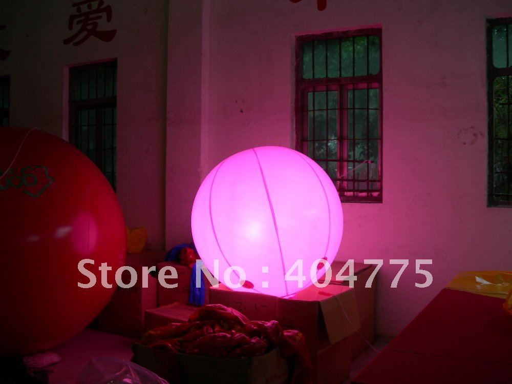 PVC inflatable advertising lighting balloon with free shipping+light inside(China (Mainland))