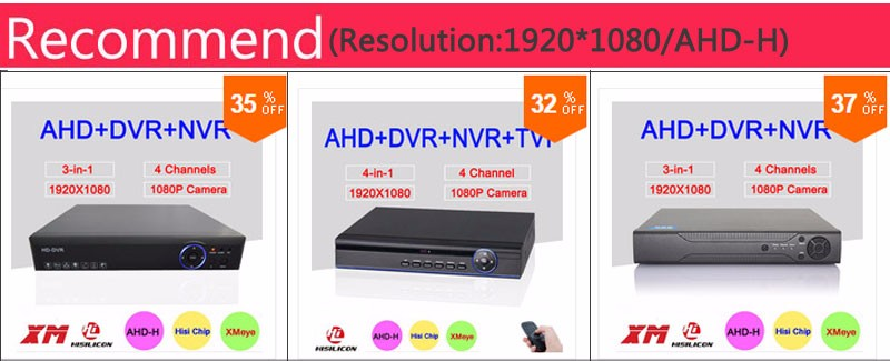 Hisilion Sensor Four in One DVR 8 Channel 8CH 1080P/960P/720P/960H 4 in 1 Coaxial TVI AHD DVR With Remote Control Free Shipping