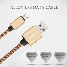 1m Aluminum Mobile Phone Cables Micro USB to Mini Data Cable Charging For Samsung Galaxy S4 S5 S6 A3 A5 A7 Note 2 M9 M7 XEDAIN(China (Mainland))