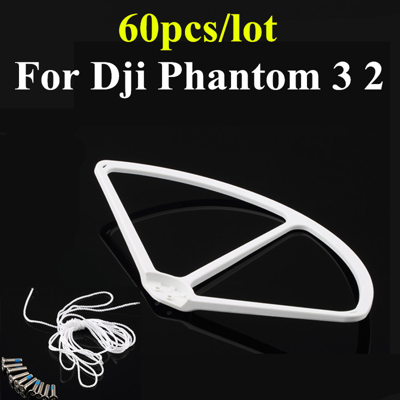 60pcs/set For Dji Phantom 3 2  Propeller Protector Guard Props Bumper Shielding Ring 9 Inch White Parts Wholesale Accessories <br><br>Aliexpress
