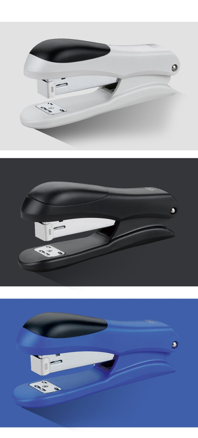1 PC 3-Color Standard Stapler without nail for Office and School, Blue &amp; Black &amp; White, DSJ00003<br><br>Aliexpress