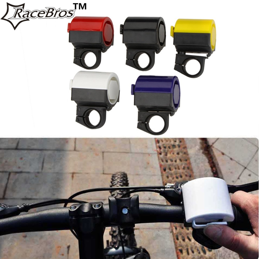 RaceBros 360 Degree Rotation Bicycle Bell Electronic Mountain Bike Bell Ring Loud Road MTB Cycling Horn Handlebar Horn Bells(China (Mainland))