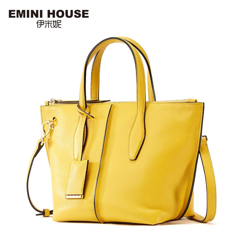 emini house 2 sizes genuine leather tote bag high capacity shoulder bags handbags women famous. Black Bedroom Furniture Sets. Home Design Ideas