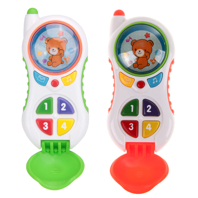New Baby toys Baby Kids Learning Study Musical Sound Cell Phone Children Educational Mobilephone Electronic Kid's Toys Phone(China (Mainland))