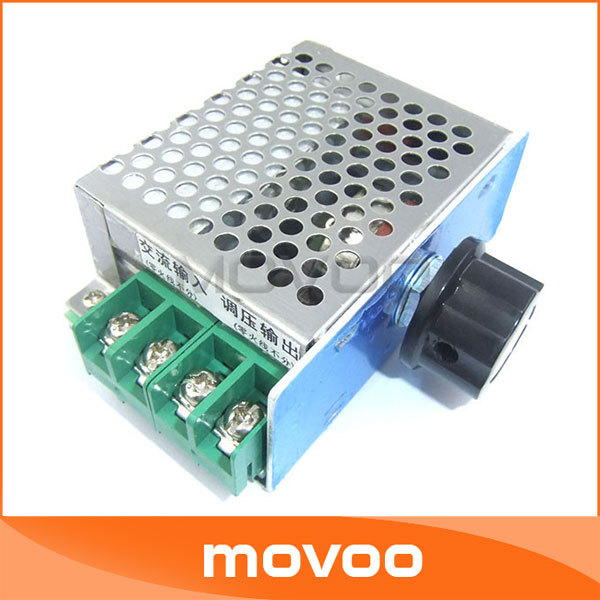 AC 220V 0-55V SCR Controller Voltage Regulator Dimmer Motor Speed Contrller Temperature High Power 1100W - MOVOO Store store