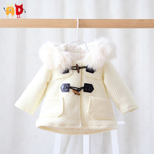 AD Thermal Preppy Baby Girls Coats Fleece Thicken Baby Snowsuit Quality Warm Jumpsuit Children Winter Clothing Toddler Outwear
