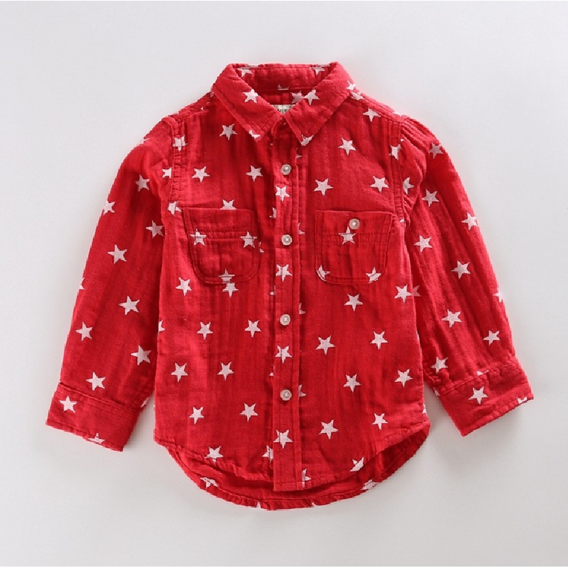 Kids Cotton Shirs 216 Spring Children's Casual Shirt Linen Solid Color Girls Fashion Start Blouse 2016 Long Sleeve Child Blouses
