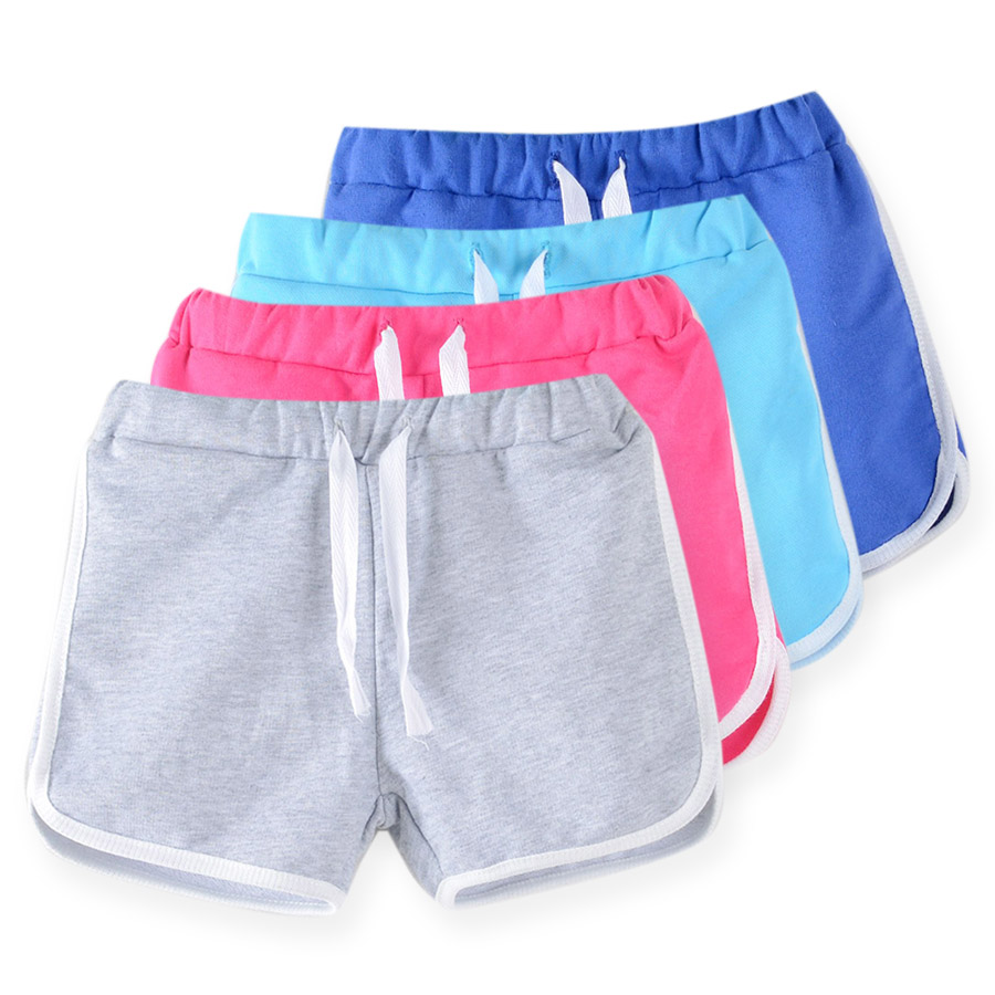 SheeCute Girls Shorts New arrival candy color kids boys beach shorts chindrens cotton french terry shorts for 2-13Y kids 0902