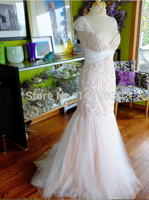 New design high end europe style mermaid heavy beading for High end wedding dress