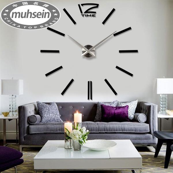 New 2015 home decoration / DIY wall clock wall clocks large stickers mirror wall clock Wanduhren relojes de pared()