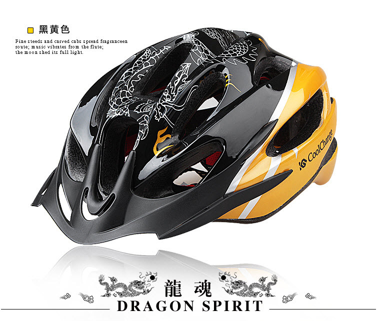 Free Shipping,China Dragon Style Design Mountain Bike Helmet Outdoor Bicycle Cycling Safety Sports Integrated Helmet With EPS(China (Mainland))