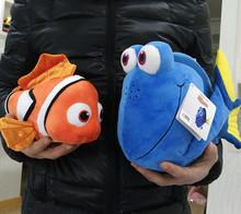 Free Shipping 1set Original Finding Nemo plush toys, 25cm Nemo and 35cm Dory Fish Stuffed Soft Plush Toy for Birthday gift(China (Mainland))