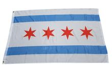 Versandkostenfrei die neue Stadt Chicago flag 3*5 Füße flagge. Amerika flagge. United states flag. Chicago banner(China (Mainland))