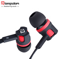 Original Langsdom JM26 Stereo Hifi Earphone Super Bass Earphones with microphone Flat Wire Headset for all