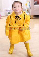 Korean Style burberry_ kids Raincoat Yellow Red Princess Dress Rainwear Children Rain Coat Solid Color Poncho Baby Raincoat