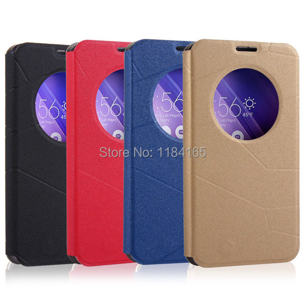 KOC-1629_4_Fashion Call Display ID Leather Case with Sleep Wake-up Function & Holder for ASUS Zenfone 2 ZE551ML