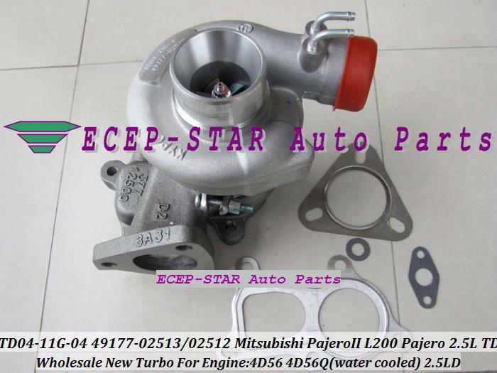 NEW TD04 TD04-11G-04 49177-02513 49177-02512 28200-42540 Turbo Turbocharger For Mitsubishi L200/PAJERO/Galloper 2.5L 4D56Q 4D56(China (Mainland))