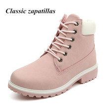 New 2016 Autumn Early Winter Shoes Women Flat Heel Martin Boots Fashion Women's Boots Brand Woman Shoes Ankle Botas Hand Outsole(China (Mainland))