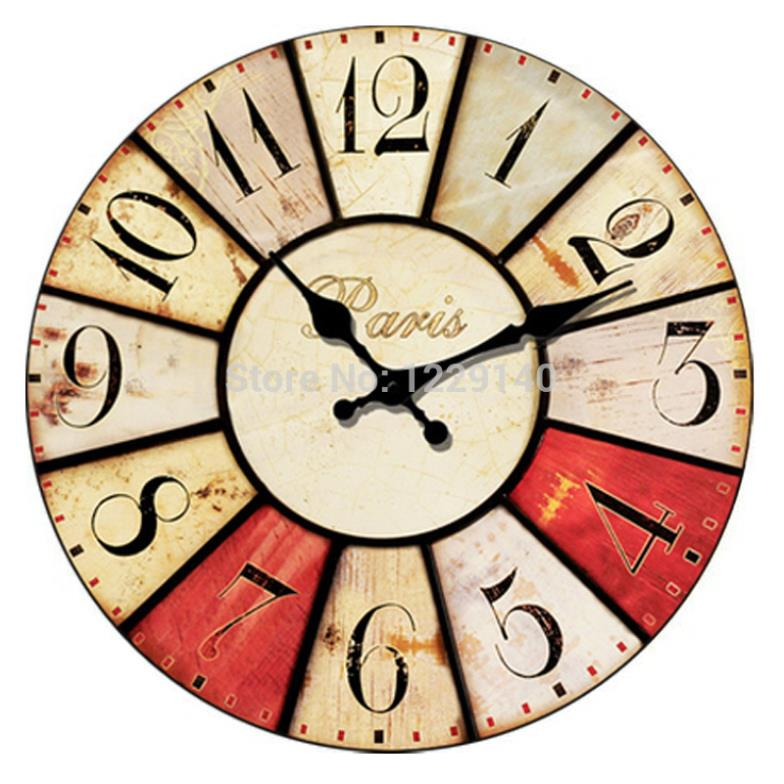 Wall Clock Designs Latest : New vintage retro antique style europe number design