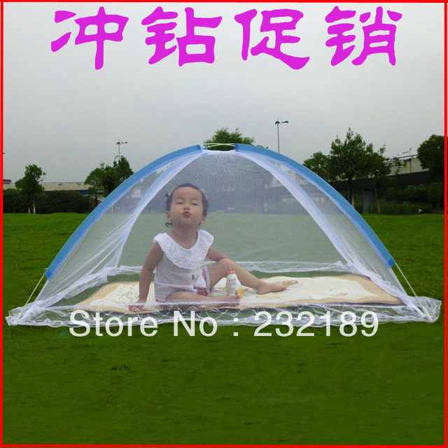 Baby mosquito net yurt belt child mosquito net automatic folding baby mosquito bed