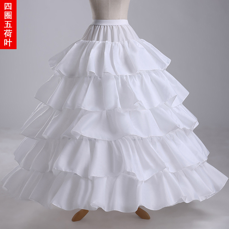 Q31 4 Hoops 5 Layers Petticoat Underskirt Big Skirt