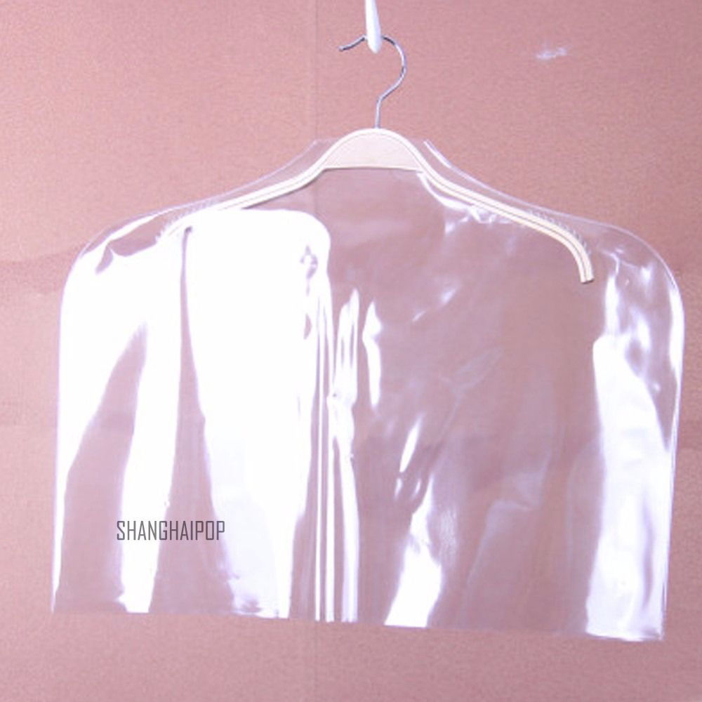 5 X Clear Clothes Dust Cover Shirt Suit Jacket Garment Bag Storage Protector New 075-339(China (Mainland))