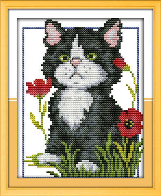 Cross Stitch , DIY 11CT 14 CT DMC ,   D467 diy beads painting flower cross stitch wall decoration