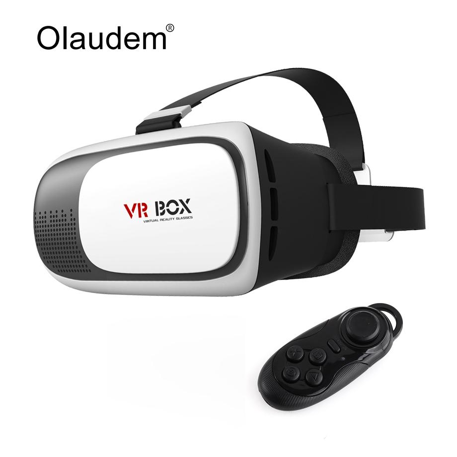 VR Glasses Google Cardboard Virtual Reality 3D Glasses VR Box 2.0 Version Headset + Bluetooth 3.0 Remote Controller VR119(China (Mainland))