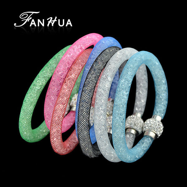 Браслет с надписями FANHUA Net Stardust 2015 Bisuteria FJ-BR-3888 elegant multilayer faux gem rhinestone flower heart bracelet for women