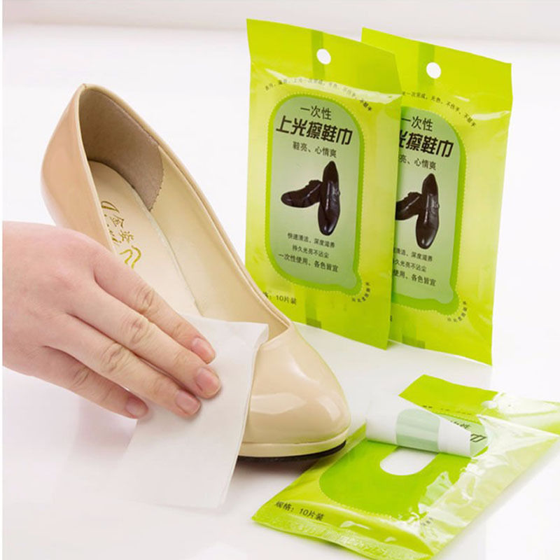 Rushed Scouring Pad Pano De Prato Cozinha Cloth Towel New Portable Shoe Towel Disposable Nonwoven Wipes Leather Care(China (Mainland))