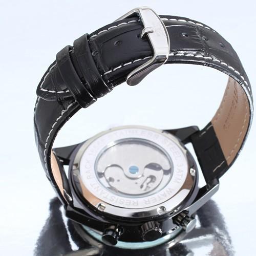 Выбрать мужские Механические Наручные Часы Tourbillon Кожаный Ремешок Арабскими Цифрами Циферблате Полный Календарь Дисплей Платье