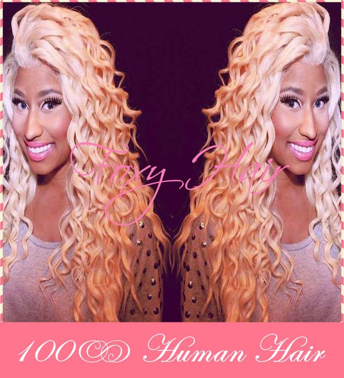 Minaj-Hairstyle-100-Human-Hair-Curly-Wigs-Blonde-Brazilian-Hair-Curly