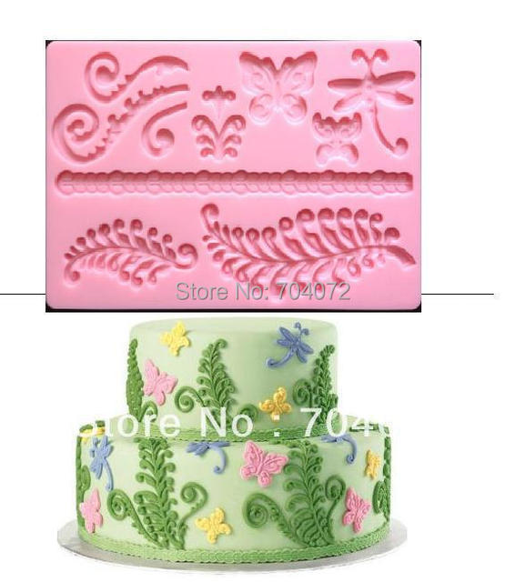 "2015 Real Cake Tools Transport Tools free Shipping New Arrival Molds Nature ""fern"" Fondant And Gum Paste Mold Cake Decoration"