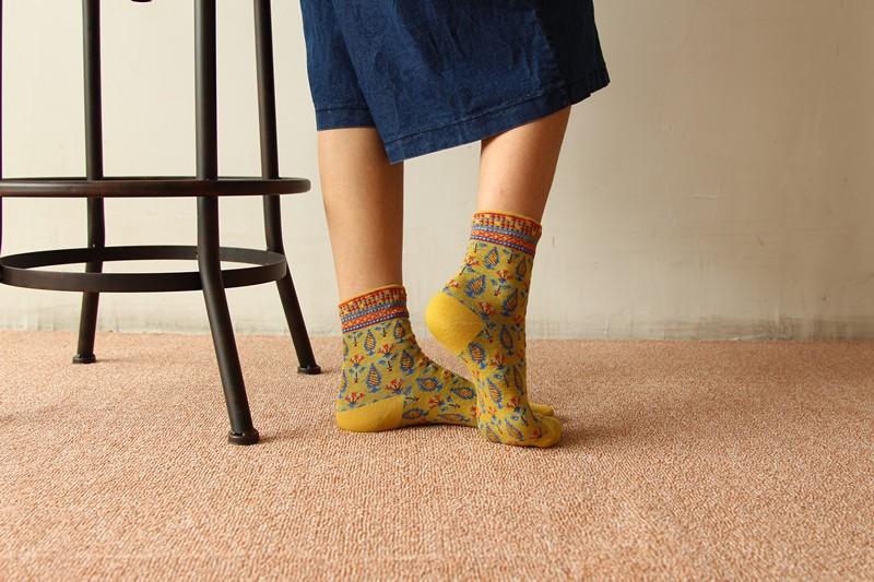 1 Pair New Women Winter Warm Soft Cotton Cute Trees Socks Free Shipping