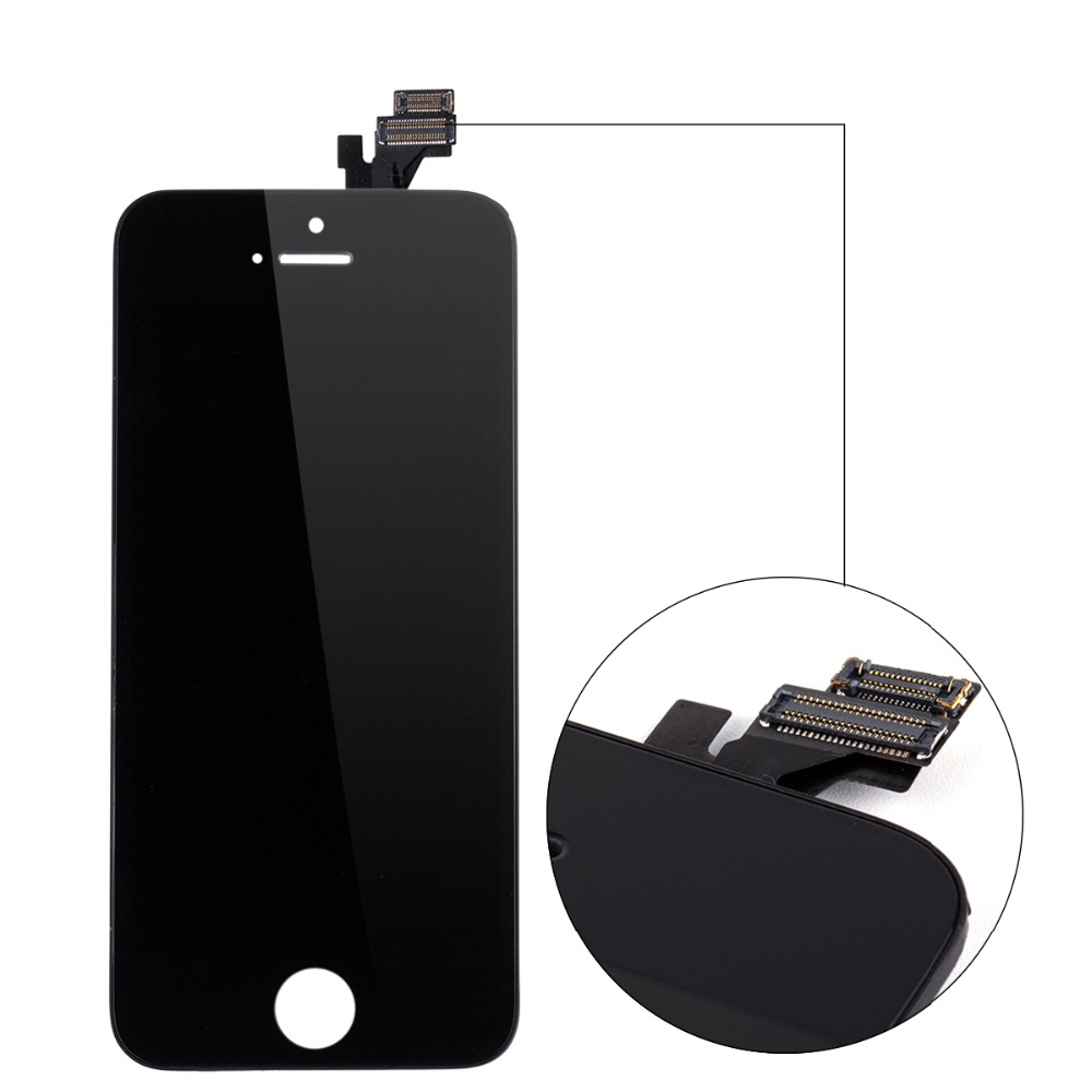 Wholesale Grade AAA Quality Mobile 10PCS/LOT Phone LCD Display For Apple iPhone 5 LCD Touch Screen Digitizer Assembly in white(China (Mainland))