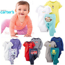New arrive Original carters baby girls bodysuits clothing sets cotton 3pcs baby girls clothes for meninas