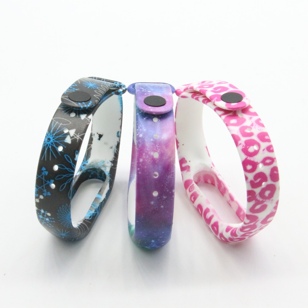(XM2HS) 3pcs/lot T18 Replace Strap for Xiaomi Mi Band 2,Silicone Wristbands for Mi Band 2 Accessories