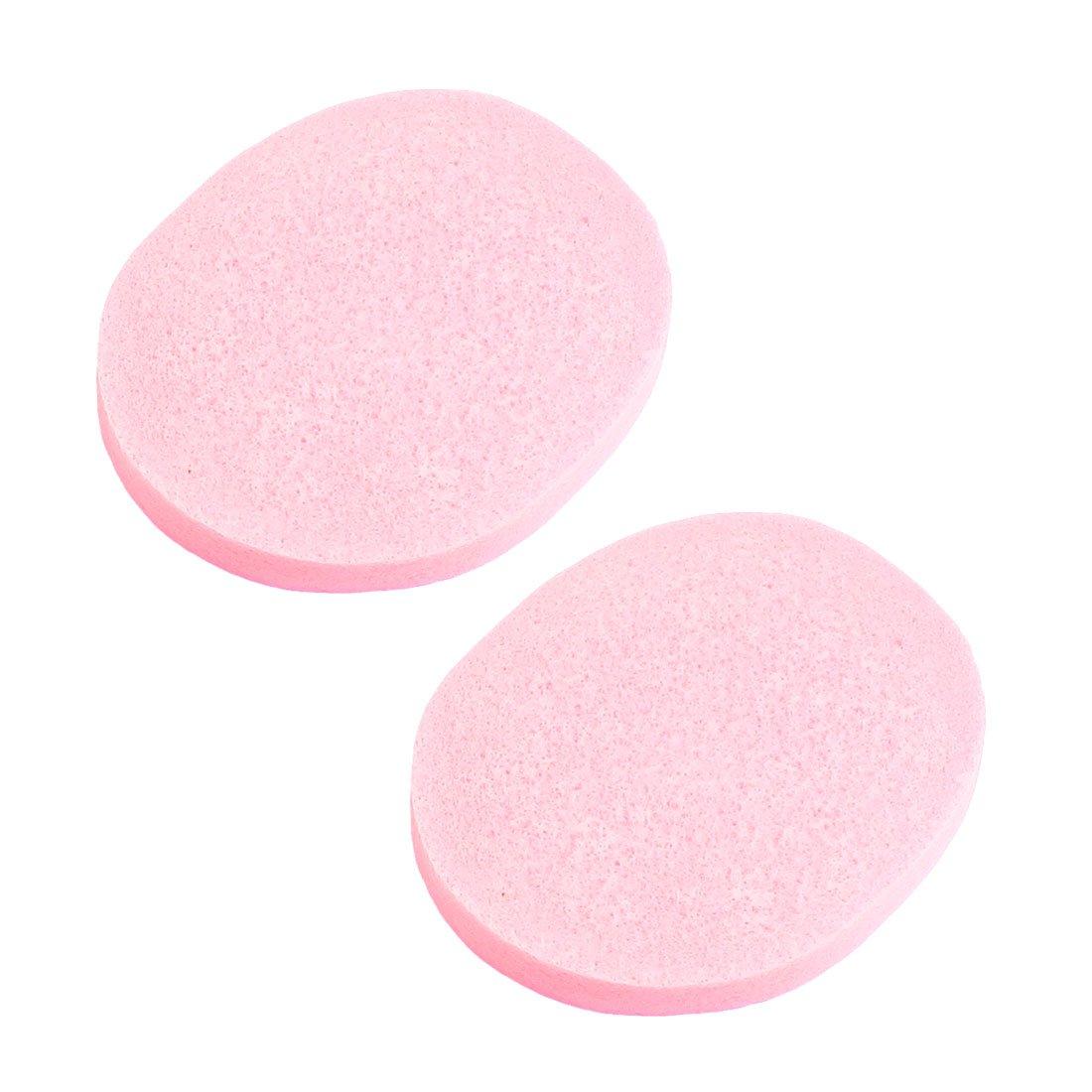 UESH 2 Pcs Practical Cosmetic Oval Pink Sponge Facial Washing Cleansing Pads(China (Mainland))