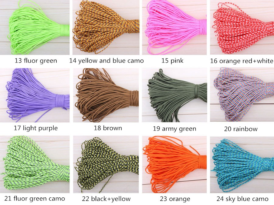 50 Meters Dia. 2mm one stand Cores Paracord for Survival Parachute Cord Lanyard Camping Climbing Camping Rope <font><b>Hiking</b></font> Clothesline