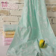 Free Shipping Arrival 100% Cotton babyTowel  Bath Towel Beach Towel double gauze infant Washcloth 140x70cm 3pcs/lot (China (Mainland))