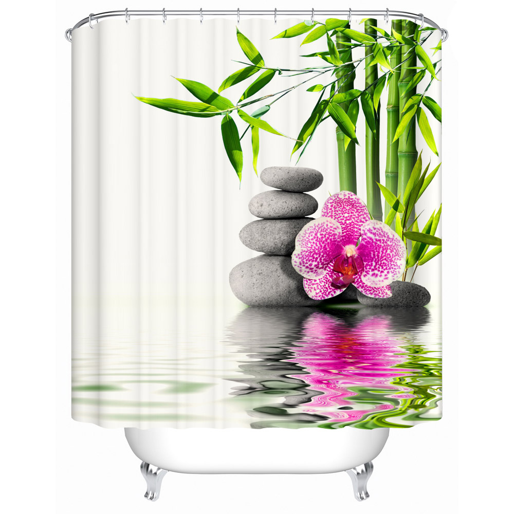 Chinese style Shower Curtains Bathroom Curtain Quality Practical Household Items Waterproof Shower Curtain Y-017(China (Mainland))