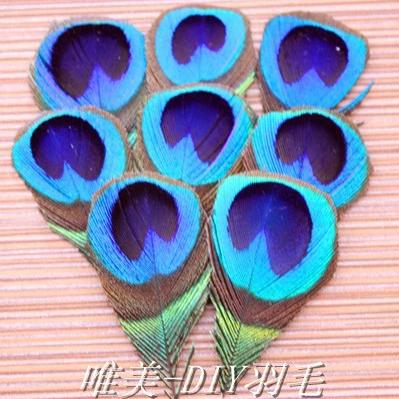 5Natural Real Peacock Feathers Small blue shin Eyes Plume Manual trimming Decoration ! - yifeiler store