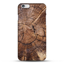 Original Natural Bamboo Wood Tree Growth Ring PC Hard Phone Case For Apple iPhone 4s 5s 6s 6plus Celular Cover Fundas Coque