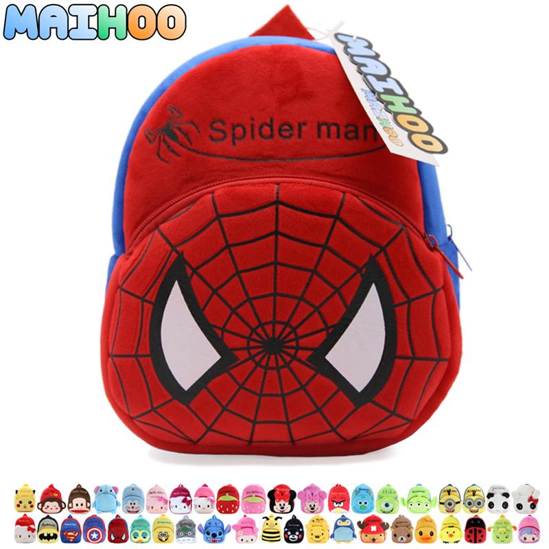 MAIHOO spiderman mochila Children gift kindergarten boy backpack Plush baby spider man school schooltas design kid plush toy bag(China (Mainland))
