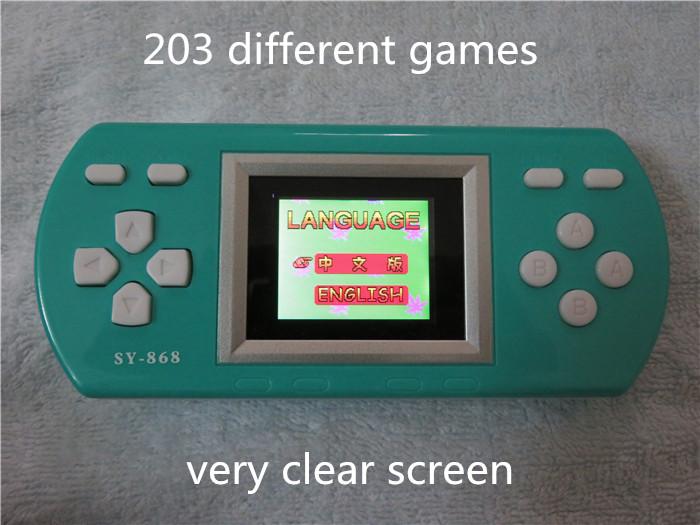freeshipping 10 pieces best brithday gifts different 203 games classical games handheld game player consola(China (Mainland))