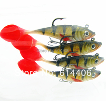 Slender soft fish lure bag lead fish bait weest fishing perch mandarin 20g 11cm 5pcs/lot free shipping