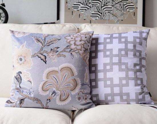 H3254 новый цветочный полоса подушки подушки мягкий бархат печать наволочки декоративные бросок площадку украшения дома подарок