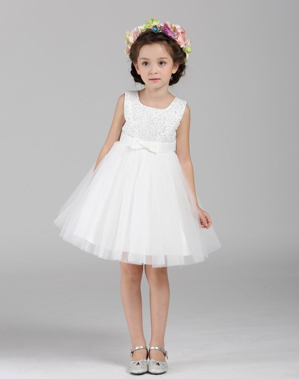 Zoeflower 2015 Girl Dresses Sequin Lace Gauze Slip Dress Princess Tiered Dress Party Dress 3-8T Z148