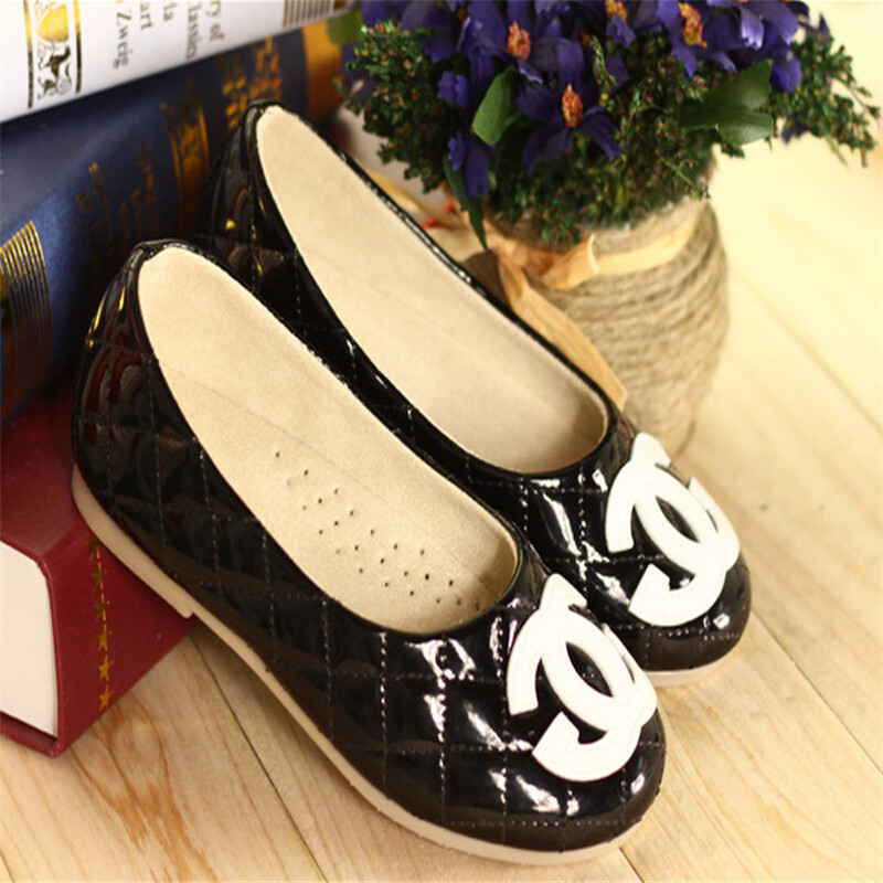 2015 Non-Slip Sole Black White Children Shoes Girl & Kids shoes Breathable Sneaker size 9 10 11 11.5 12.5 113.5 1 2 3 3.5 4.5(China (Mainland))