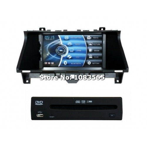 For Honda Accord 2008 - 2012 Car GPS Navigation DVD Player With Radio TV Bluetooth WINCE 6.0 ARM11 Multimedia System(China (Mainland))